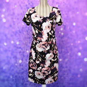 Hello Miz Floral Faux Wrap Maternity Dress